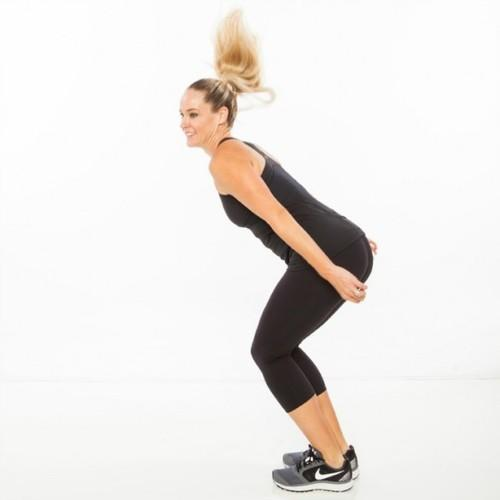 180 Squat Jump some simple exercises to lose belly fat