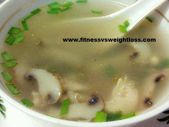 Chicken soup with mushroom recipe