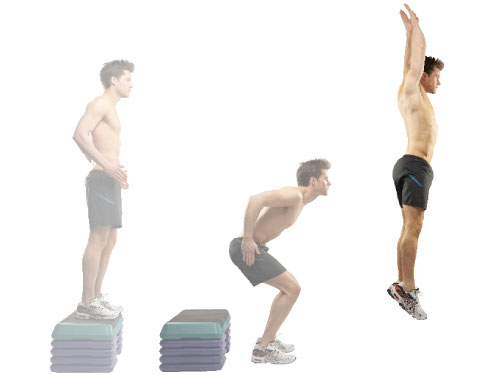 Depth jumps- Depth jumps and box jumps to increase muscle power