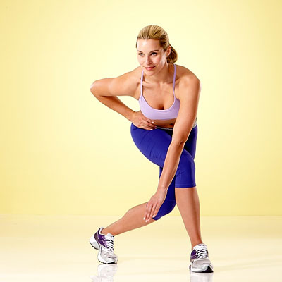 cursty lunge Fitness for women 6 best workouts