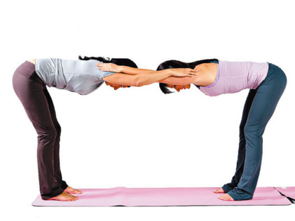 yoga partnersstretching