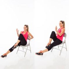 Chair running- Burn calories with chair cardio exercises