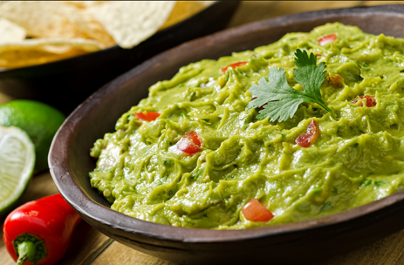 Health benefits of guacamole dip