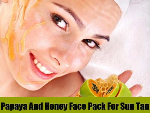 papaya and honey face pack for sun tan