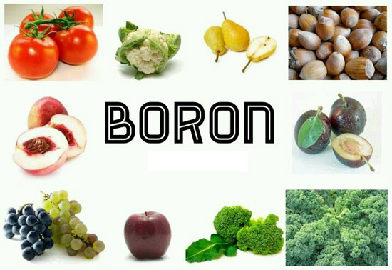 Boron rich foods