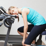 woman tired overexercise