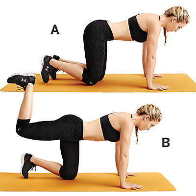 Single leg lift- Lindsey Vonn