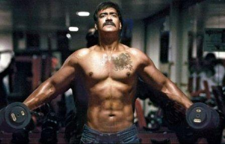 Ajay-Devgan-six pack abs fitness, Celebs with Sculpted abs