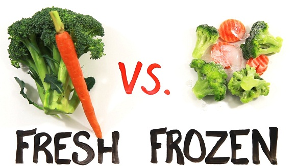 fresh veggies vs frozen, Fresh vs frozen veggies and fruits