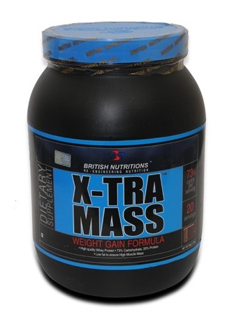 British-Nutrition-Xtra-Mass weight gain supplement, Weight Gain Products In India