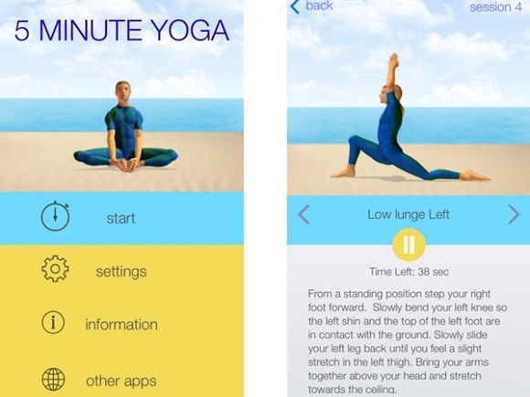5 Minute Yoga app, Yoga Apps