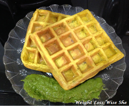 Healthy Savory Waffles | Protein Rich Recipe For Carb Watchers. 1