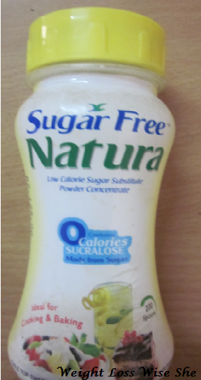 is sugar-free natura good for health?