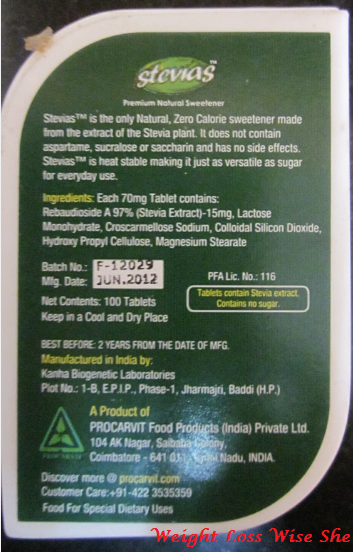Stevia Sweetener Review lose weight