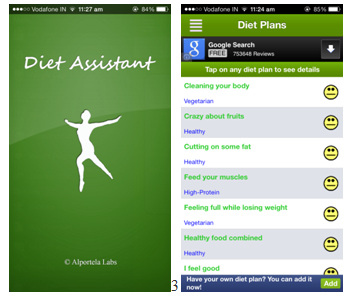 Top 6 Free Health and Fitness apps diet assistant