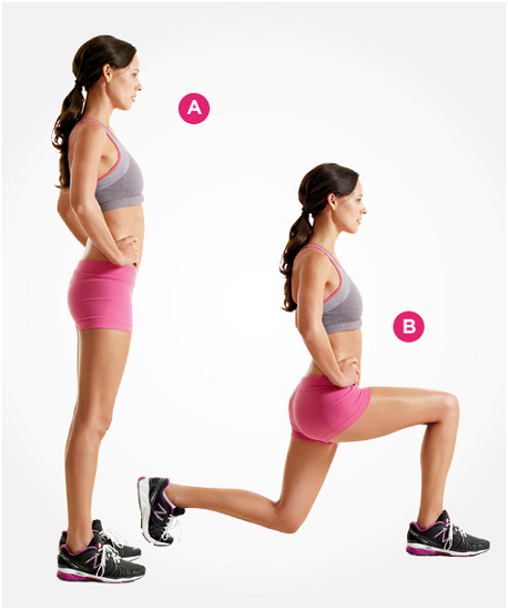 do at home leg workout lunges