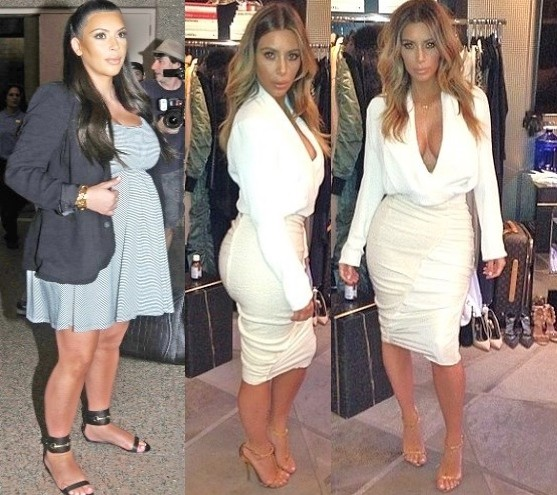 Kim Kardashian before and after weight loss