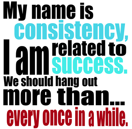 consistency weight loss mantra