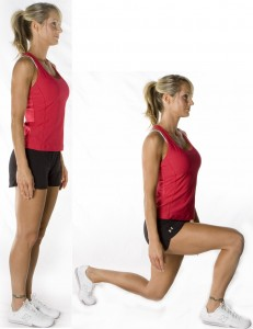 workout for working women lunges