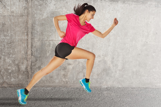 woman starting running