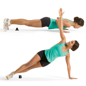 Push up with Side Plank