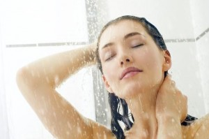 woman-standing-shower