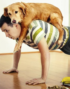 A good workout buddy-your pet pushups