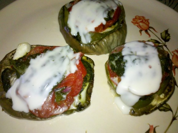 Low carb Eggplant Spinach Bake