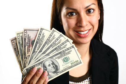 Young Girl Holding Some Cash