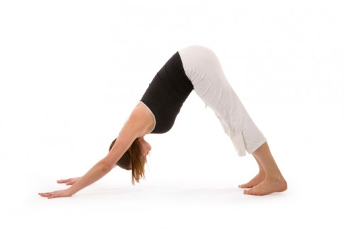 Downward dog yoga for strengthening the back
