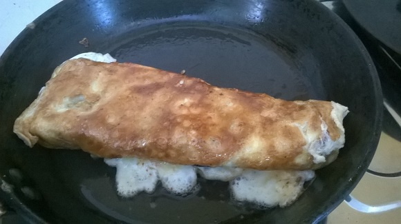 brinjal egg chees roll