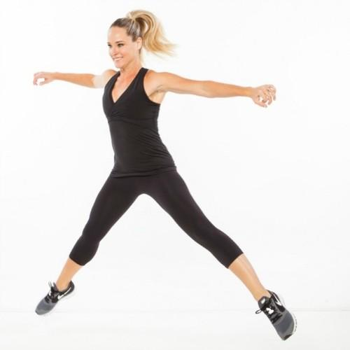 Side leap and balance Some simple exercises to lose belly fat
