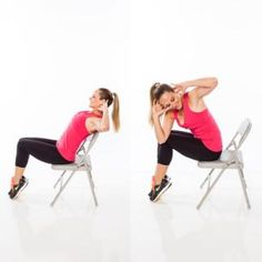 Hinge and cross- Burn Calories With Chair Cardio Exercises