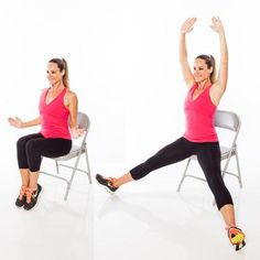 seated jacks- Burn Calories With Chair Cardio Exercises