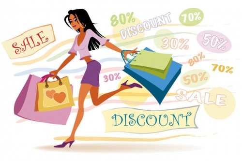 Shopping losing 500 calories a day