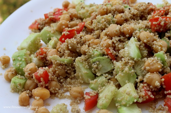 millet chickpea healthy salad recipe
