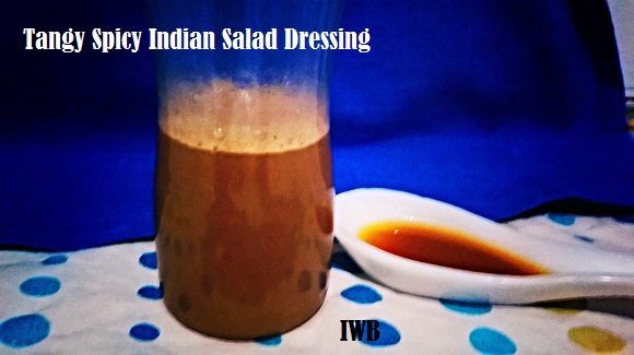 tangy spicy Indian salad dressing