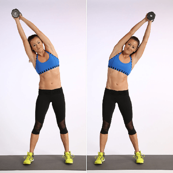 Weighted Side bend workout