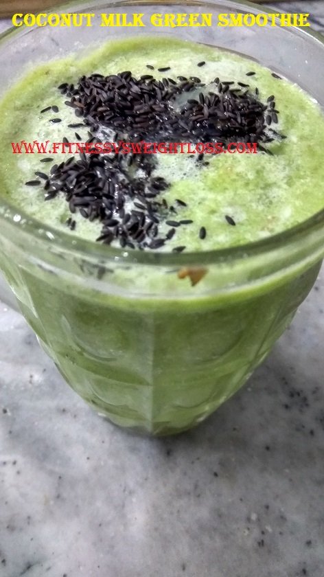 coconut milk green smoothie