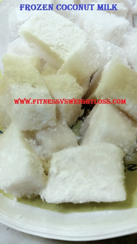 frozen coconut milk cubes