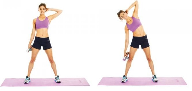 dumbbell exercises tone back