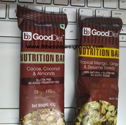 Big Basket Good Diet Nutrition Bar Review